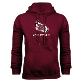 Maroon Fleece Hood-Volleyball