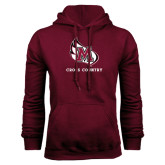 Maroon Fleece Hood-Cross Country