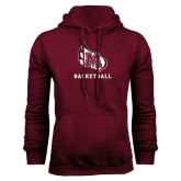 Maroon Fleece Hood-Basketball