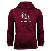 Maroon Fleece Hoodie-Alumnae