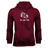 Maroon Fleece Hood-Grandpa