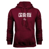 Maroon Fleece Hood-Lacrosse Design