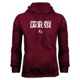 Maroon Fleece Hoodie-Lacrosse Design