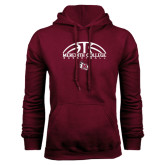 Maroon Fleece Hood-Basketball Design