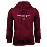 Maroon Fleece Hood-Soccer Design