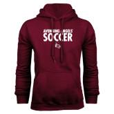 Maroon Fleece Hoodie-Soccer Design