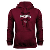 Maroon Fleece Hoodie-Softball Design