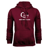Maroon Fleece Hood-Tennis Design