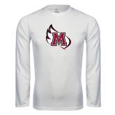 Performance White Longsleeve Shirt-M Wing Icon