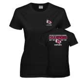 Ladies Black T Shirt-USA South Conference Lacrosse Champions