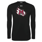 Under Armour Black Long Sleeve Tech Tee-M Wing Icon