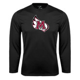 Performance Black Longsleeve Shirt-M Wing Icon