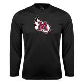 Performance Black Longsleeve Shirt-M Wing Icon