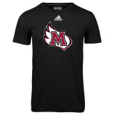 Adidas Climalite Black Ultimate Performance Tee-M Wing Icon