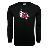 Black Long Sleeve TShirt-M Wing Icon