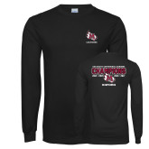 Black Long Sleeve T Shirt-USA South Conference Lacrosse Champions
