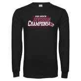 Black Long Sleeve T Shirt-2017 USA South Division Softball Champions