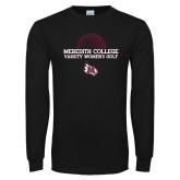 Black Long Sleeve T Shirt-Varsity Womens Golf