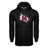 Under Armour Black Performance Sweats Team Hoodie-M Wing Icon