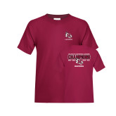 Youth Maroon T Shirt-USA South Conference Lacrosse Champions