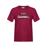 Youth Maroon T Shirt-2017 USA South Division Softball Champions