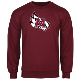 Maroon Fleece Crew-M Wing Icon