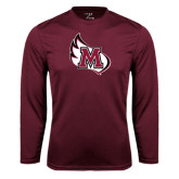 Performance Maroon Longsleeve Shirt-M Wing Icon