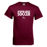 Maroon T Shirt-Soccer Design