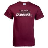 Maroon T Shirt-2017 USA South Division Softball Champions