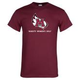 Maroon T Shirt-Varsity Womens Golf