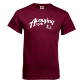 Maroon T Shirt-Avenging Angels Script