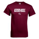 Maroon T Shirt-Basketball Design
