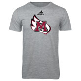 Adidas Sport Grey Logo T Shirt-M Wing Icon