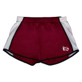 Ladies Maroon/White Team Short-M Wing Icon