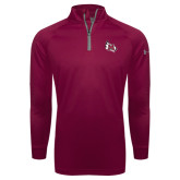 Under Armour Maroon Tech 1/4 Zip Performance Shirt-M Wing Icon