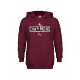 Youth Maroon Fleece Hoodie-2017 Soccer Champions