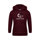 Youth Maroon Fleece Hoodie-Tennis Design
