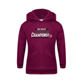 Youth Maroon Fleece Hoodie-2017 USA South Division Softball Champions
