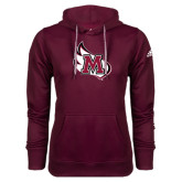 Adidas Climawarm Maroon Team Issue Hoodie-M Wing Icon