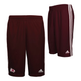 Adidas Climalite Maroon Practice Short-M Wing Icon
