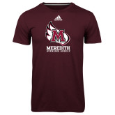 Adidas Climalite Maroon Ultimate Performance Tee-Primary Mark