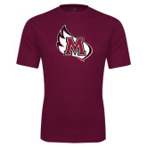 Performance Maroon Tee-M Wing Icon