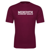Performance Maroon Tee-Wordmark