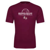 Performance Maroon Tee-Volleyball Design