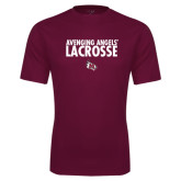 Performance Maroon Tee-Lacrosse Design