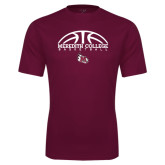 Performance Maroon Tee-Basketball Design