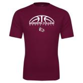Performance Maroon Tee-Basketball Design