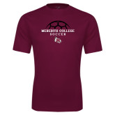 Performance Maroon Tee-Soccer Design
