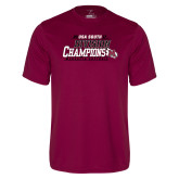 Performance Maroon Tee-2017 USA South Division Softball Champions