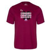 Performance Maroon Tee-2016 USA South Volleyball Tournament Champions